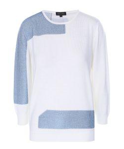 Escada | Пуловер Прямого Кроя С Металлизированной Отделкой