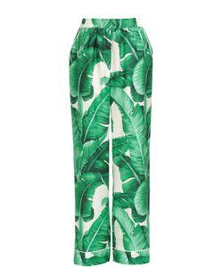 Dolce & Gabbana | Шелковые Брюки В Пижамном Стиле С Цветочным Принтом