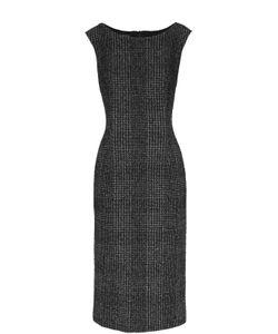 Escada | Приталенное Платье Без Рукавов С Вырезом-Лодочка