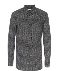 Givenchy | Хлопковая Рубашка С Итальянским Воротником И Принтом