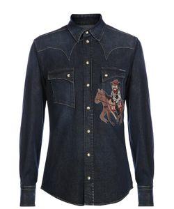 Dolce & Gabbana | Джинсовая Рубашка С Вышивкой