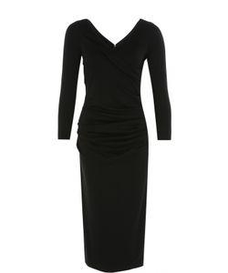 Armani Collezioni | Платье-Футляр С V-Образным Вырезом И Длинным Рукавом