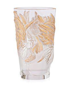 Lalique | Ваза С Петухами С Позолотой