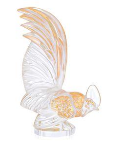 Lalique | Пресс-Папье Петух Bantam С Позолотой