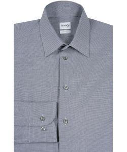Armani Collezioni | Рубашка Из Фактурного Хлопка С Воротником Кент