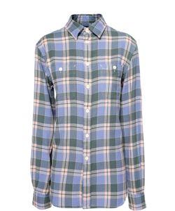 Polo Ralph Lauren | Хлопковая Блуза В Клетку С Накладными Карманами