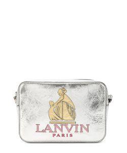 Lanvin | Сумка Nomad Из Металлизированной Кожи С Аппликацией