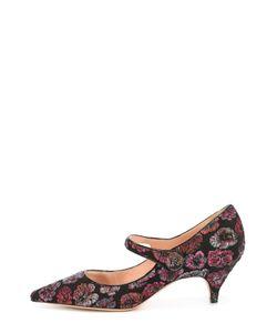 Rochas | Туфли Из Текстиля С Вышивкой