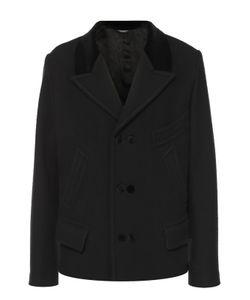Dolce & Gabbana | Шерстяное Укороченное Пальто С Остроконечными Лацканами