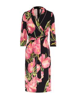 Dolce & Gabbana | Платье С Запахом И Цветочным Принтом