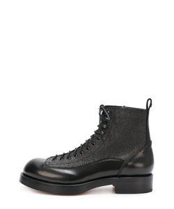 Dsquared2 | Высокие Кожаные Ботинки С Тиснением