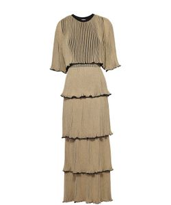 Sonia Rykiel | Многоярусное Плиссированное Платье-Макси