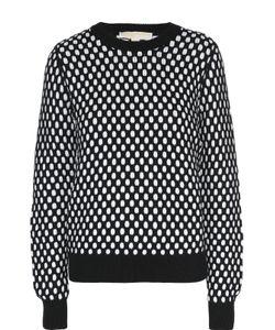 Michael Michael Kors | Пуловер Свободного Кроя С Круглым Вырезом И Контрастным Принтом Michael Michael