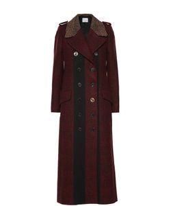 Sonia Rykiel | Двубортное Пальто В Клетку С Декоративной Отделкой