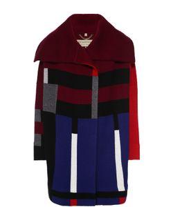 Burberry Brit | Шерстяное Пальто Прямого Кроя С Контрастным Принтом