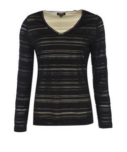 Escada | Приталенный Пуловер С V-Образным Вырезом И Полупрозрачными Вставками