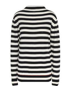 Moncler | Удлиненный Шерстяной Пуловер В Контрастную Полоску