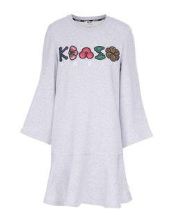 Kenzo | Мини-Платье Свободного Кроя С Контрастной Отделкой