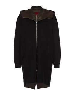 Moncler | Пальто Прямого Кроя С Пуховой Подстежкой