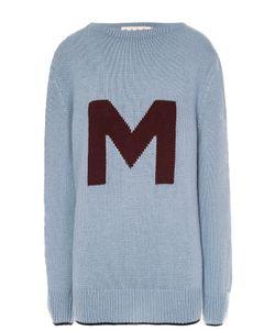 Marni | Удлиненный Пуловер Свободного Кроя С Контрастной Надписью