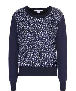 Diane Von Furstenberg | Пуловер Свободного Кроя С Шелковой Вставкой