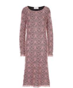 Tak.ori | Вязаное Кружевное Платье С Круглым Вырезом