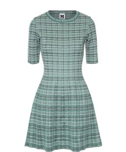 Missoni | Приталенное Мини-Платье В Клетку С Коротким Рукавом M