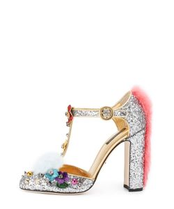 Dolce & Gabbana | Туфли Vally С Глиттером И Декором