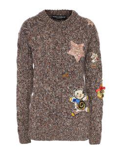 Dolce & Gabbana | Кашемировый Пуловер Фактурной Вязки И Контарстной Отедлкой