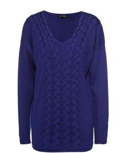 Escada | Удлиненный Пуловер Фактурной Вязки С V-Образным Вырезом
