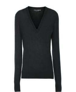 Dolce & Gabbana | Кашемировый Пуловер Прямого Кроя С V-Образным Вырезом