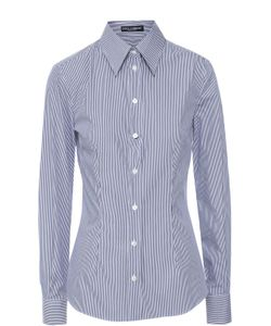 Dolce & Gabbana | Приталенная Шелковая Блуза В Полоску
