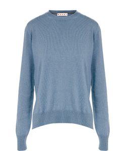 Marni | Кашемировый Пуловер С Круглым Вырезом И Разрезами