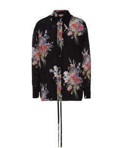 No. 21 | Шелковая Блуза Прямого Кроя С Цветочным Принтом