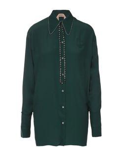 No. 21 | Удлиненная Блуза Прямого Кроя С Декоративной Отделкой