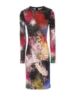 Roberto Cavalli | Платье-Футляр С Ярким Принтом