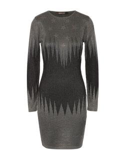 Roberto Cavalli | Облегающее Вязаное Платье С Металлизированной Отделкой