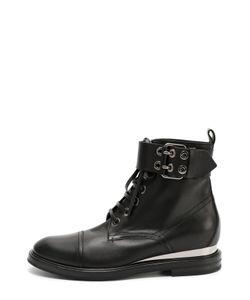 Casadei | Кожаные Ботинки С Декорированным Ремешком