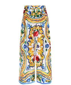 Dolce & Gabbana | Укороченные Широкие Брюки С Ярким Принтом