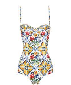 Dolce & Gabbana | Слитный Купальник С Ярким Принтом
