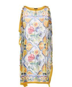 Dolce & Gabbana | Полупрозрачная Туника С Ярким Принтом
