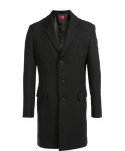 Hugo | Однобортное Пальто С Добавлением Шерсти