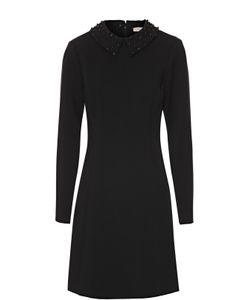 Michael Michael Kors | Приталенное Мини-Платье С Декорированным Отложным Воротником