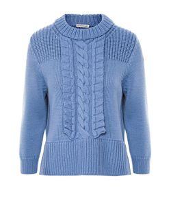 Moncler | Пуловер С Укороченным Рукавом И Фактурной Отделкой