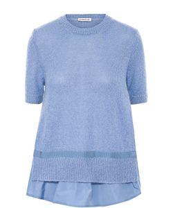 Moncler | Вязаный Пуловер Свободного Кроя С Коротким Рукавом