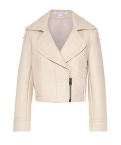 Diane Von Furstenberg   Укороченная Кожаная Куртка С Широкими Лацканами