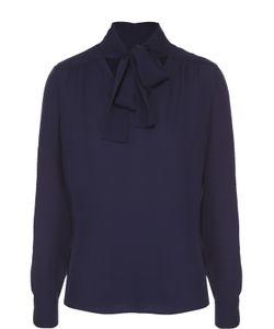 Diane Von Furstenberg | Шелковая Блуза Прямого Кроя С Воротником Аскот