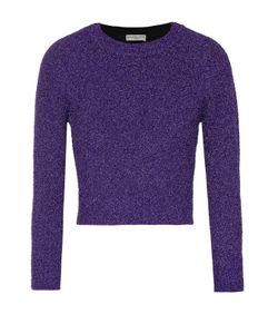 Balenciaga   Укороченный Пуловер С Круглым Вырезом И Металлизированной Отделкой
