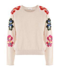 Chloe | Пуловер С Круглым Вырезом И Цветочной Вышивкой Chloé