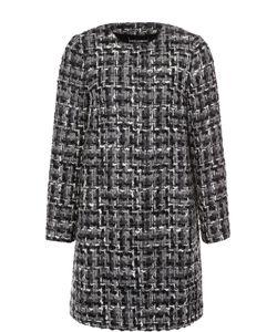 Dolce & Gabbana | Буксированное Пальто Прямого Кроя С Круглым Вырезом
